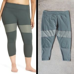 Zella Green Blissed Out Crop Leggings 1X